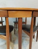 Dining Table and Chairs by Hans Olsen for Frem Rojle Denmark